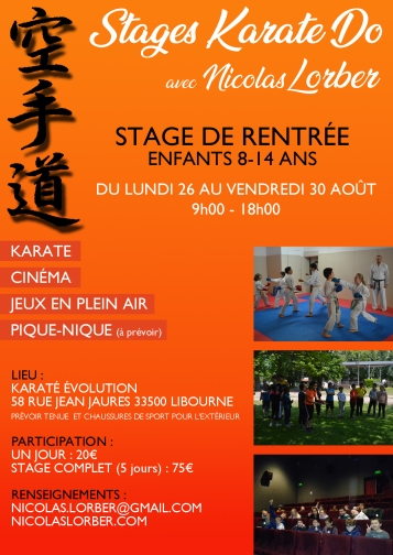 STAGE RENTREE ENFANTS 8-14 2019